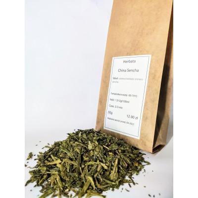 China sencha w opakowaniu 50 gram herbata zielona