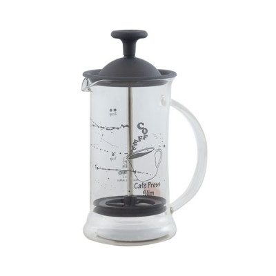 French Press Hario Cafe Slim S Transparent Black 240ml