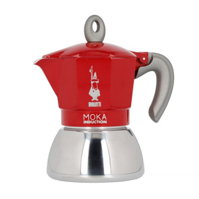Bialetti New Moka Induction 4tz Czerwona Kawiarka
