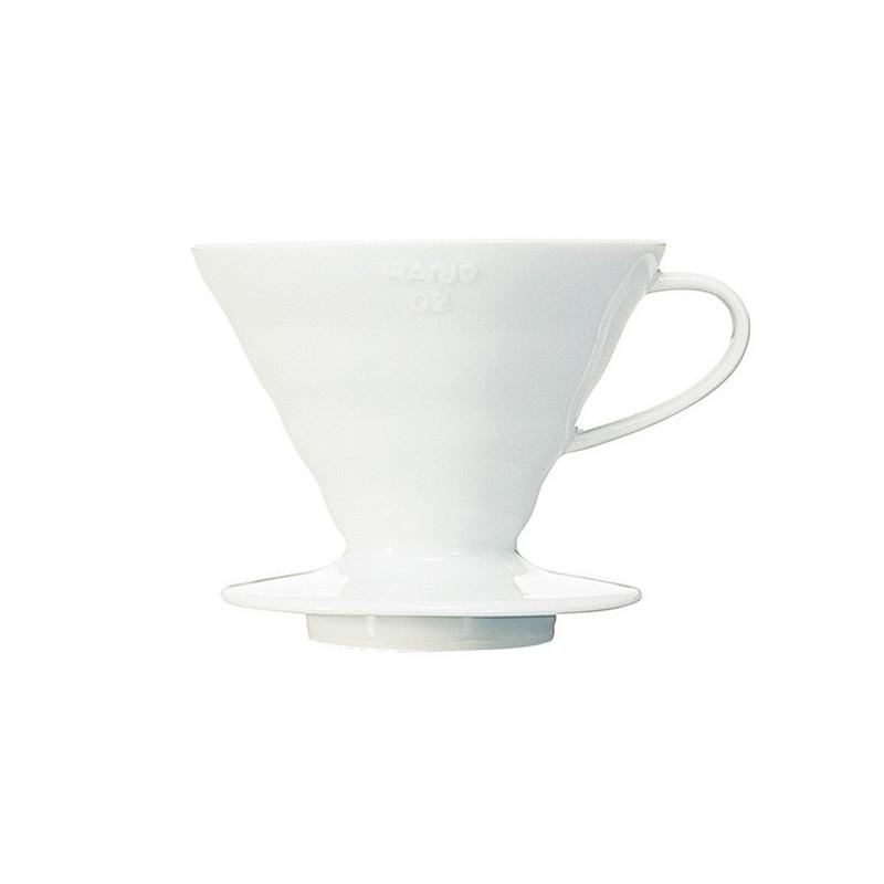 Hario 02  Biały Drip Ceramiczny  V60-02,  Biały dripper Hario