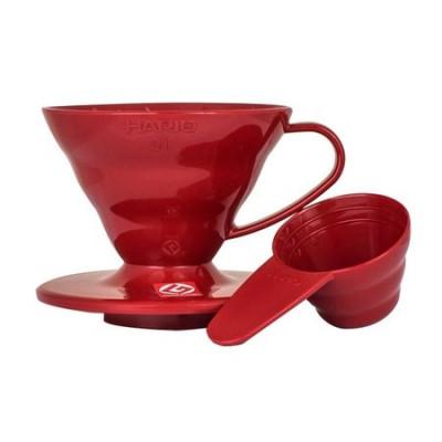 Hario 01 Drip Plastikowy V60-01 Czerwony