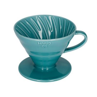 Hario 02 Drip Turkusowy Ceramiczny V60-02