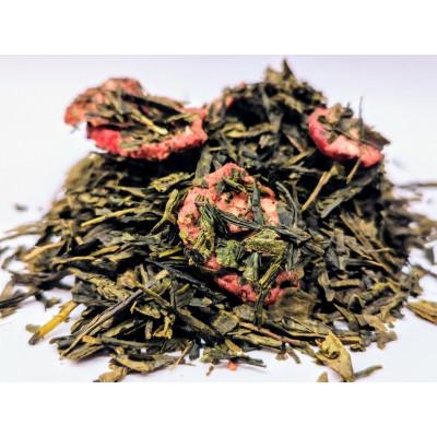Zielona Herbata Sencha z dodatkiem truskawek