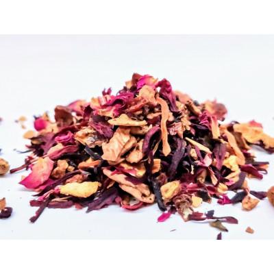 Herbata na święta z różą i poarańczą