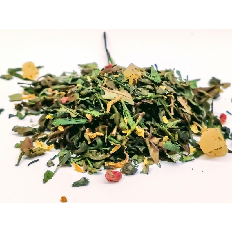 Herbata zielona Sencha z ananasem, papają i mango w sklepie Saskia