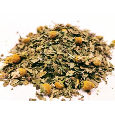Herbata Yerba Mate, koszyczek rumianku, owoc guarany, mięta zielona, owoc kopru włoskiego, anyż,