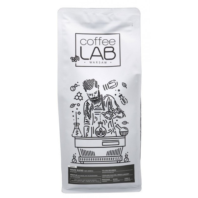 Kawa ziarnista House Blend CoffeeLab Coffee Lab, Kawa do ekspresu, kawa do kawiarki, kawa Brazylia, brazylisjka