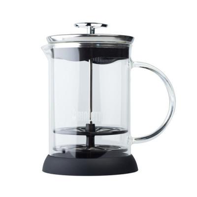 Bialetti Cappuccinatore Vetro 6tz- ręczny spieniacz do mleka Ubijak do mleka