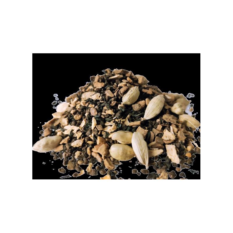 Herbata Chai Tea liściasta czarna z cynamonem i kardamonem. Sklep z herbatą