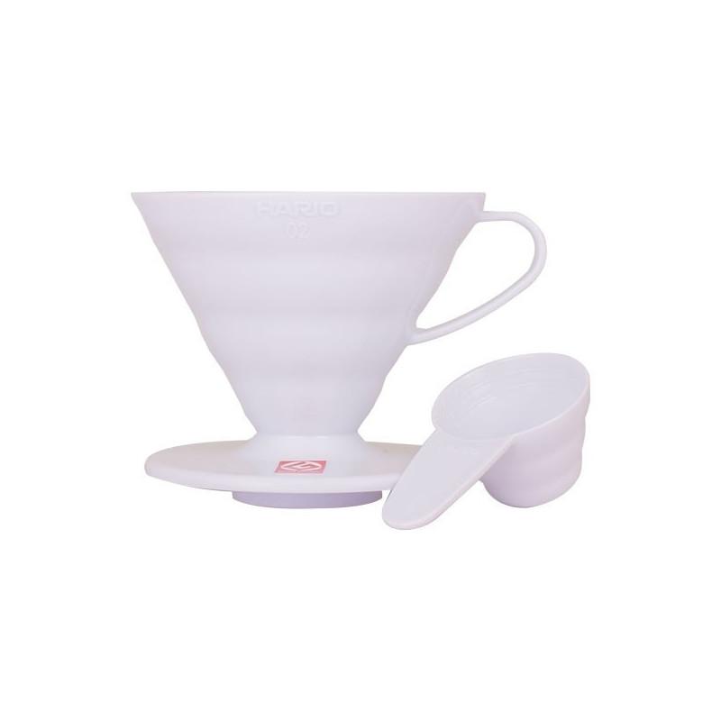 Hario 01 Drip Plastikowy V60-01 biały Urządzenia do parzenia kawy alternatywnymi sposobami